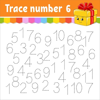Ilustração de números para crianças