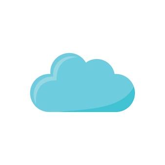 Ilustração, de, nuvem, ícone