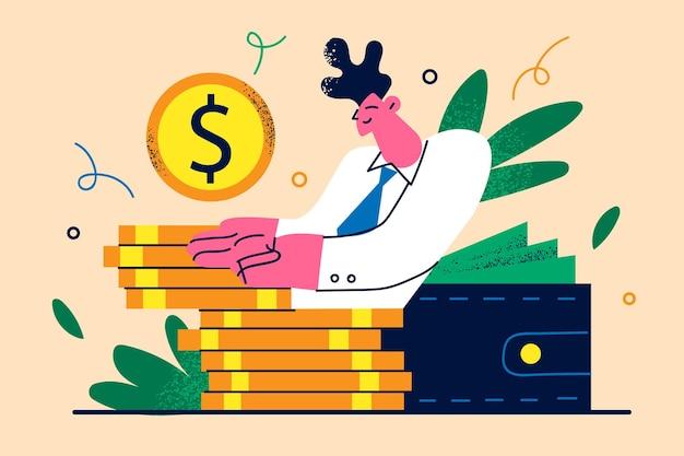 Ilustração de objetivo financeiro individual