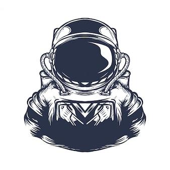 Ilustração de obras de arte de astronauta