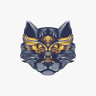 Ilustração de obras de arte de gato