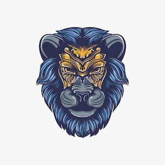 Ilustração de obras de arte de leão