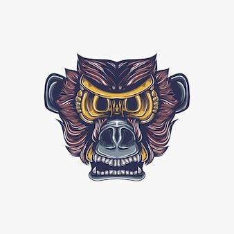 Ilustração de obras de arte de macaco