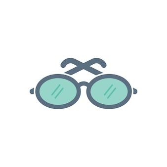 Ilustração, de, óculos