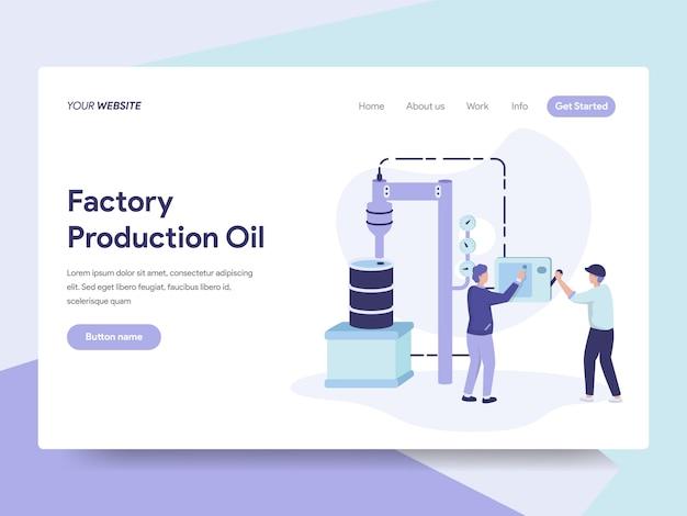 Ilustração de óleo de produção de fábrica