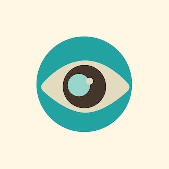 Ilustração, de, olho, ícone