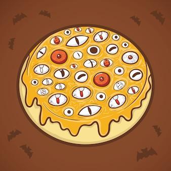 Ilustração de olhos donut de halloween