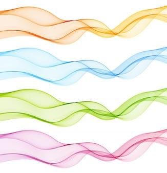 Ilustração de onda de movimento abstrato