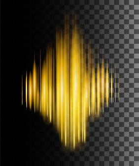 Ilustração de onda sonora de efeito abstrato