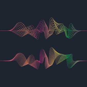 Ilustração de ondas sonoras