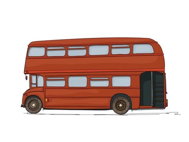 Ilustração de ônibus de dois andares