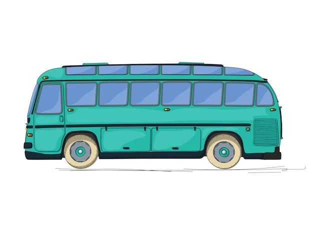 Ilustração de ônibus vintage