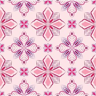 Ilustração de ornamento abstrato. padrão sem emenda com flores