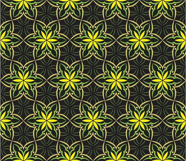 Ilustração de ornamento abstrato, padrão sem emenda com flores