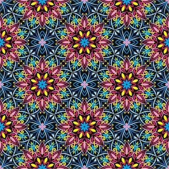 Ilustração de ornamento abstrato. padrão sem emenda