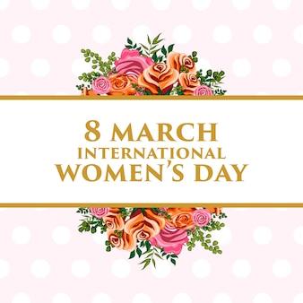 Ilustração de ornamento floral para o dia internacional das mulheres