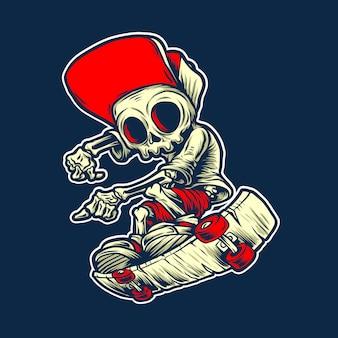 Ilustração de osso de skate