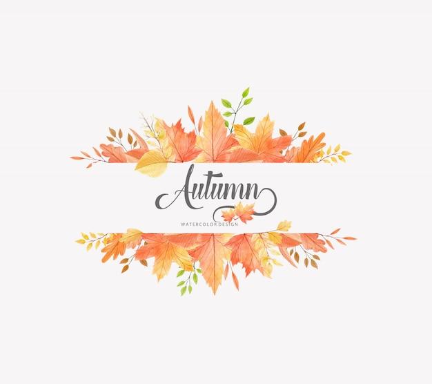 Ilustração de outono em aquarela