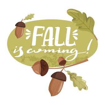 Ilustração de outono.