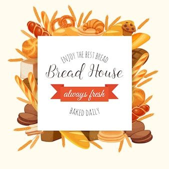 Ilustração de padaria de pão