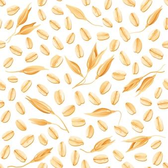 Ilustração de padrão de aveia