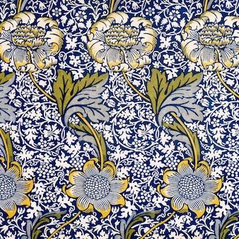 Ilustração de padrão de flor de crisântemo vintage