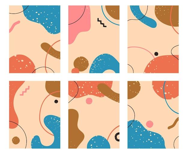 Ilustração de padrão de fundos abstratos geométricos