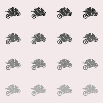 Ilustração de padrão de homem de motociclistas e motociclistas. imagem criativa e esportiva