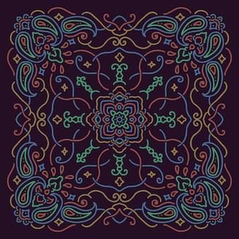 Ilustração de padrão de mandala bandana