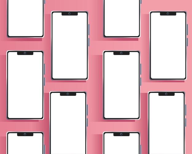 Ilustração de padrão de marca de dispositivos smartphones