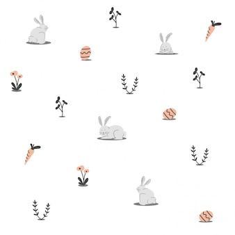 Ilustração de padrão de páscoa