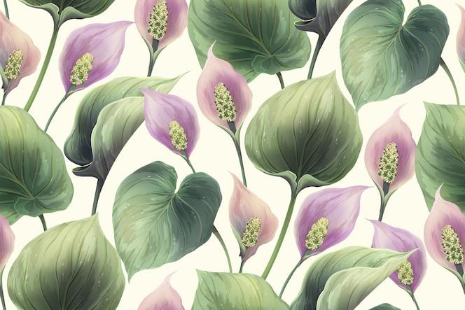 Ilustração de padrão floral sem costura