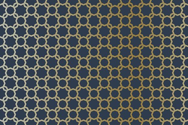 Ilustração de padrão geométrico sem costura árabe