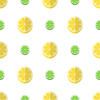 Ilustração de padrão sem emenda de fruta limão