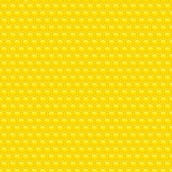 Ilustração de padrão sem emenda de mel