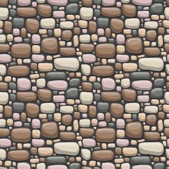 Ilustração de padrão sem emenda de rocha