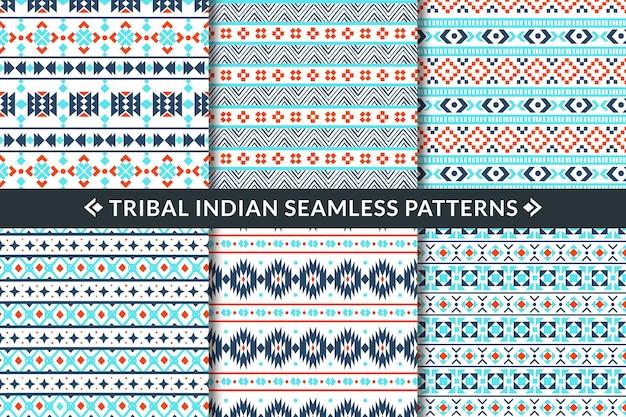 Ilustração de padrões sem emenda tribais indianos