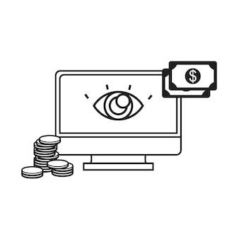 Ilustração, de, pagamento online