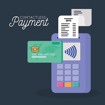 Ilustração de pagamento sem contato
