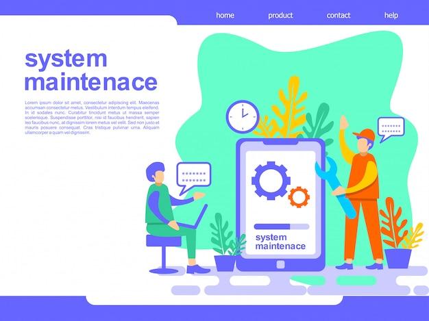 Ilustração de página de destino de manutenção do sistema