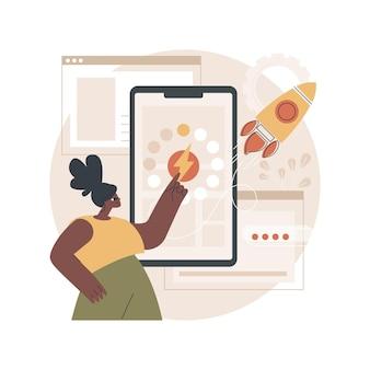 Ilustração de páginas móveis aceleradas