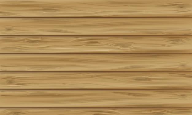 Ilustração de painel de madeira de fundo de textura de madeira realista com padrão sem emenda de prancha
