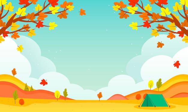 Ilustração de paisagem de outono