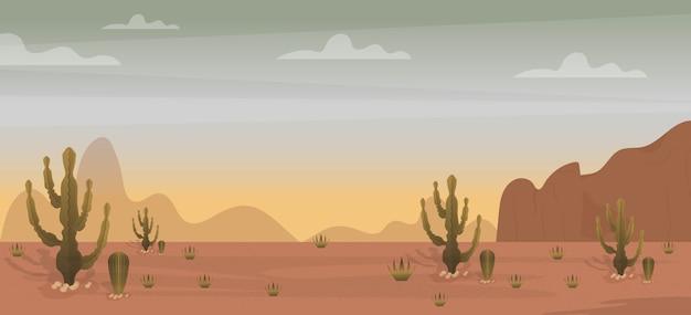 Ilustração de paisagem do deserto