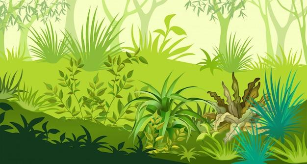 Ilustração de paisagem tropical