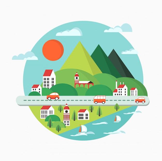 Ilustração de paisagem urbana