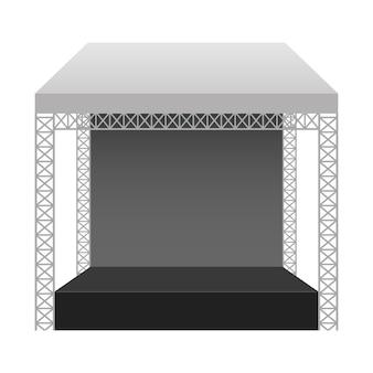 Ilustração de palco de concerto em fundo branco