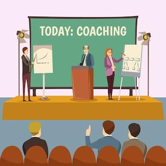 Ilustração de palestra de treinamento