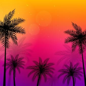 Ilustração de palmeiras beautifil