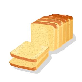 Ilustração de pão cortado em fatias